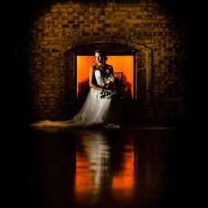 Wrightsville Manor Bridal Portrait lit with MagMod