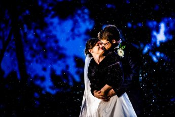 snowy wedding in raleigh country club