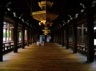 The walkway connecting the two main halls at Nishi Honganji