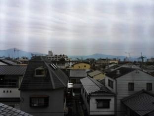 Gray skies over Kyoto