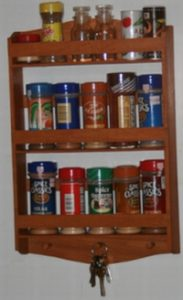 3 tier Red Elm Spice Rack