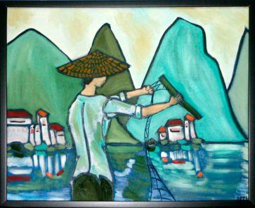 Fisherman in Village