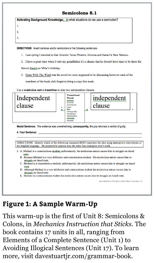 Mechanics Instruction that Sticks: Using Simple Warm-Ups to