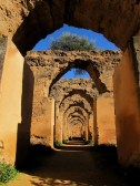 Ruins of ancient horse stable in Meknes