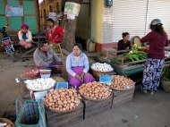 The egg market, Bagan