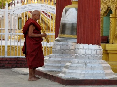 Monk at Kuthodaw Pagoda