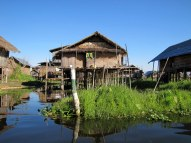Typical homes on Inle Lake