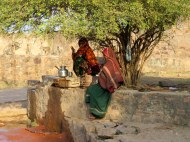 Selling water, Ranthambore Fort