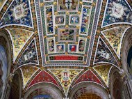 Ceiling of the library at the Duomo of Siena