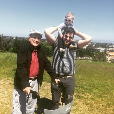 David with his grandson Josh and great granddaughter Eleanor in April 2016
