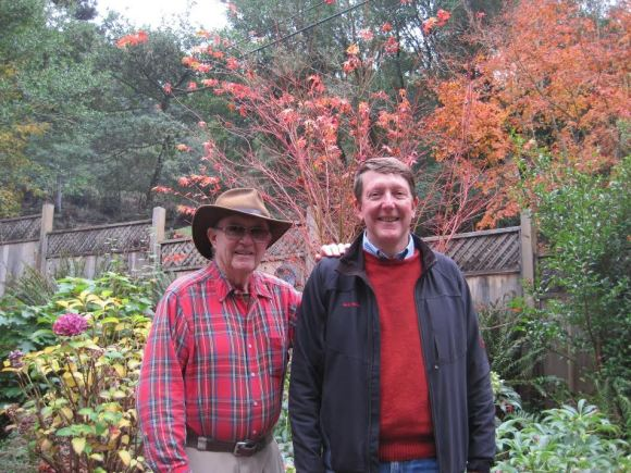 Dave with Paul Chapman. Inverness and the Pt. Reyes National Seashore.
