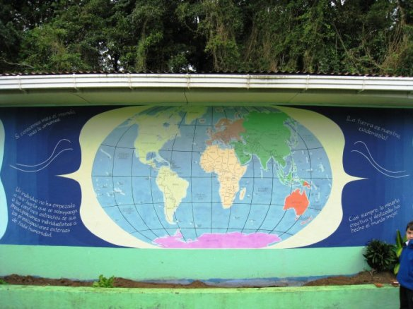 """la cruz de abangares"", ""world map mural"", ""costa rica"", guanacaste, art, artist, painting, ""community mural"", ""school mural"""