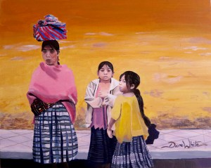 """""""The Plight of Coban"""", """"guatemala painting"""", """"coban painting"""", """"indigenous painting"""", """"cultural painting"""", """"dave white painting"""", """"indigenous women"""", """"central america painting"""", """"guatemala art"""", """"cultural painting"""""""