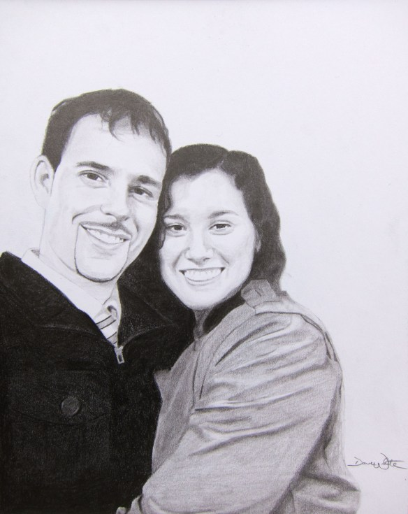 Dave and Brigitta Portrait Drawing