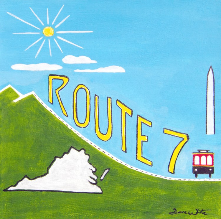 """""""route 7 art"""", """"route 7 painting"""", """"route 7"""""""