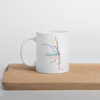 Chicago L Map Mug