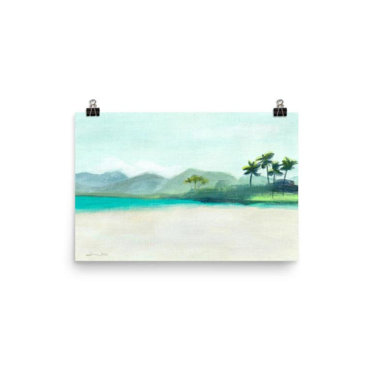 tropical beach painting