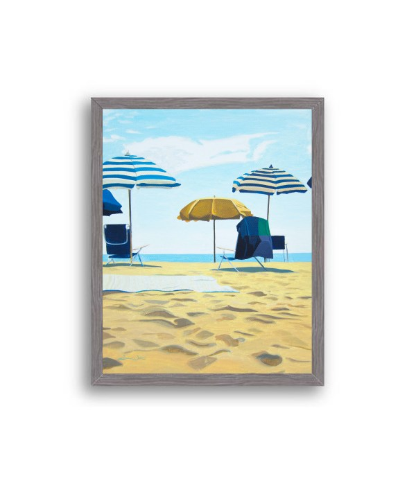 Rehoboth Beach Painting Charcoal Wood Frame