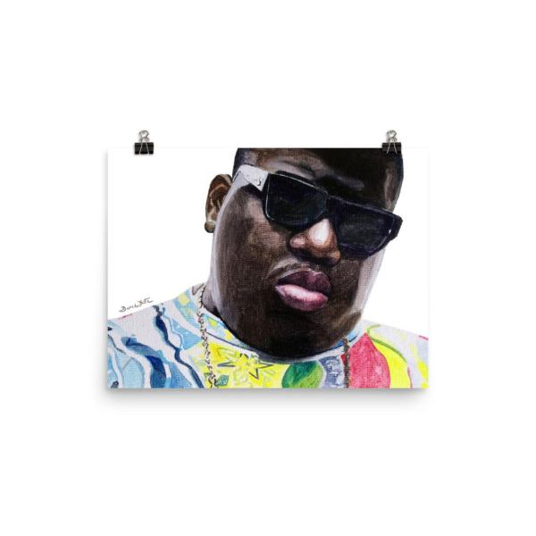 Biggie Smalls Portrait Painting Art Print 12x16