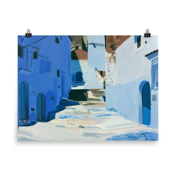 Chefchaouen Morocco Painting Art Print