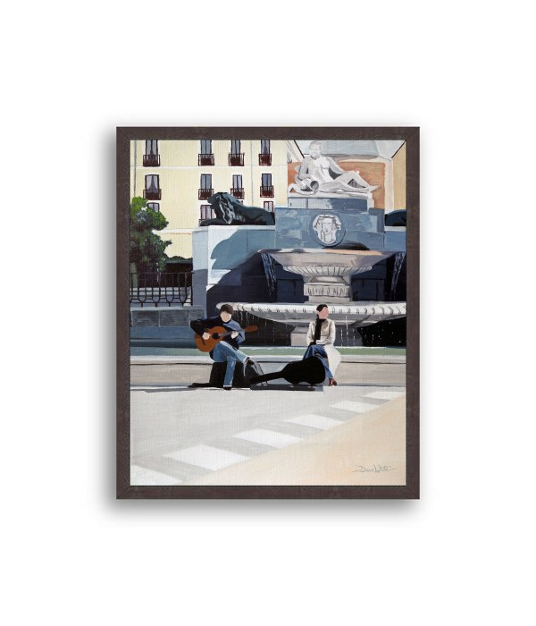 Madrid Plaza de Oriente Painting Black Frame