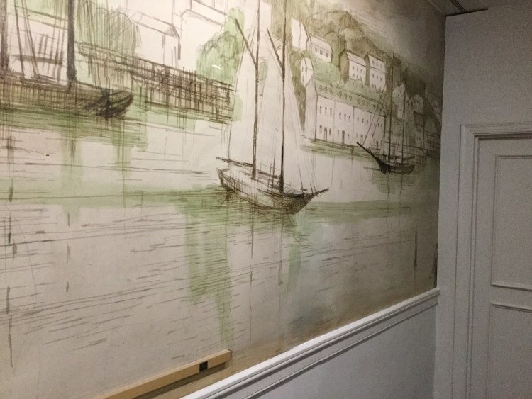Historical Mural Restoration at Bank of America in Georgetown, Washington DC - After Photo