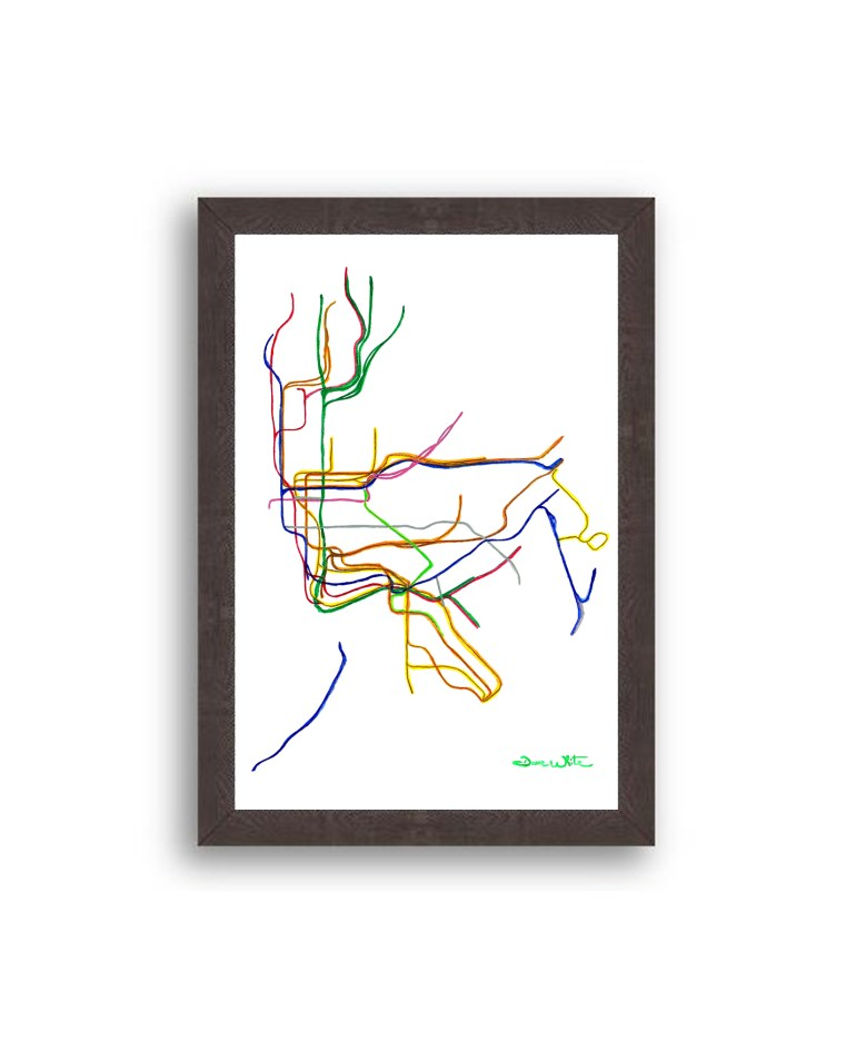 NYC-Subway-Map-Art-Print-Black-Frame