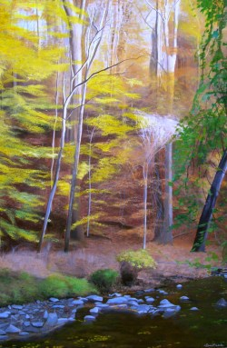 """Rock Creek Park Art"", ""rock creek park painting"", ""fall painting"", ""autumn painting"", ""landscape painting"", ""dave white painting"", ""dave white art"""