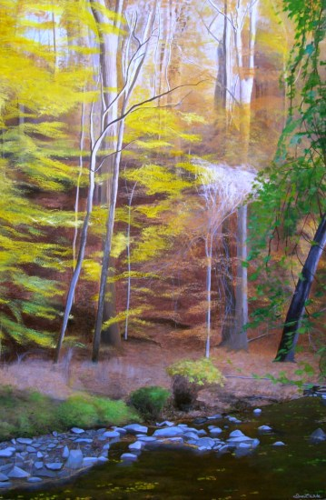 """Rock Creek Park Art"", ""rock creek park painting"", ""fall painting"", ""autumn painting"", ""landscape painting"", ""dave white painting"", ""dave white art"""