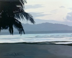 costa rica painting, costa rica art, dave white art, dave white artist, dave white paintings, costa rica, puerto viejo, beach painting, buy art online