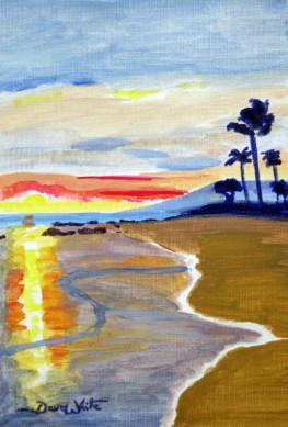 beach painting, artist dave white, beach scene, beach art, relaxing beach