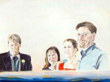 watercolor portrait, portrait painting, portrait artist, portrait art, siblings portrait