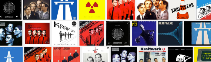 Kraftwerk album cover art montage