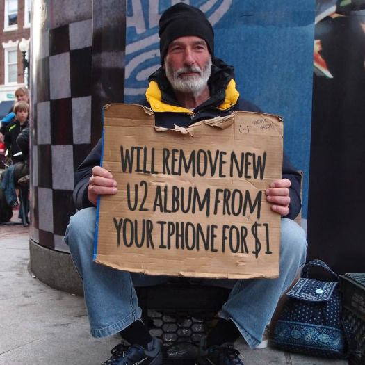Will Remove New U2 Album from your iPhone for $1