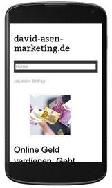david-asen-marketing.de, Smartphone-Ansicht