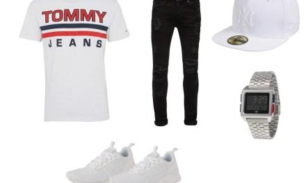 Zestaw #5: T-Shirt Tommy Hilfiger i czarne jeansy