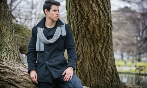 Lookbook #3: Czarny wełniany płaszcz męski