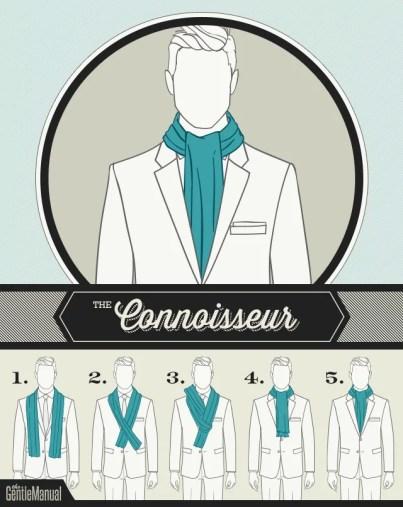 jak wiązać szalik męski