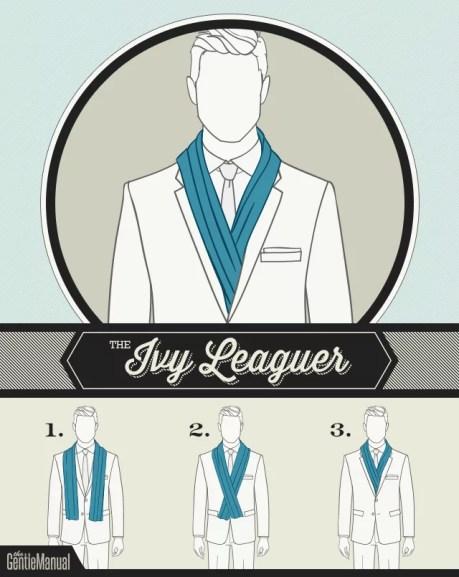 jak wiązać szalik męski formalny