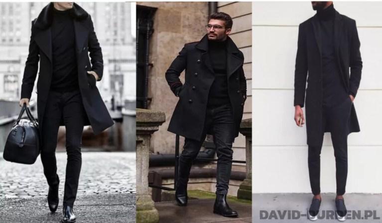 moda męska jesień zima 2019 czerń all black