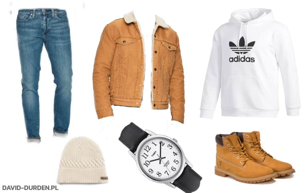 beżowa kurtka jeansowa