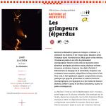 Les grimpeurs (é)perdus, Octobre 2015, La Garance, Scène Nationale de Cavaillon