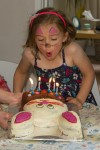 Emma at her 6th birthday party