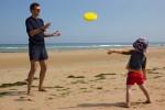 Frisbee on Omaha Beach