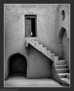 Steps with door