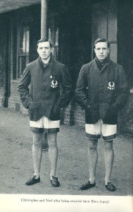 Noel Chavasse and his twin brother, Christopher.