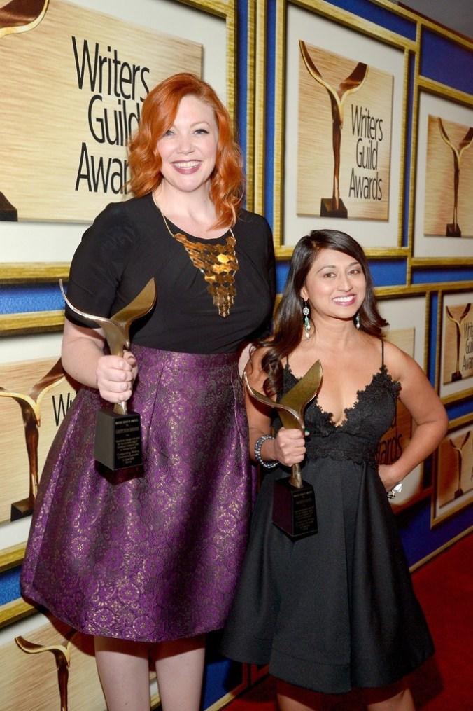 Gretchen Enders and Aminta Goyel at the WGA Awards 2016