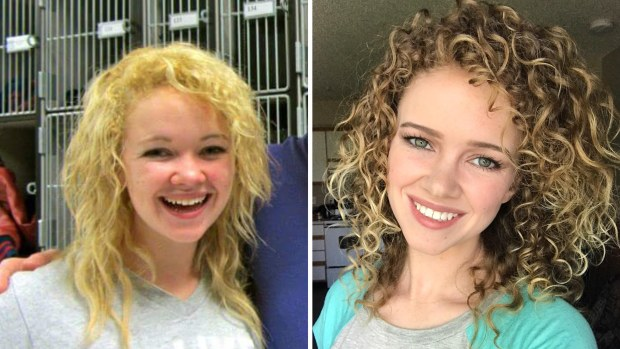 Curly girl hair transformation