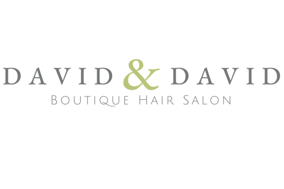 David & David Hair Salon logo transparent background