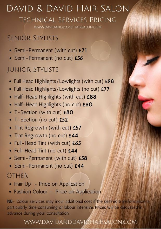 id & David Price List 2020- Colour Services cntd